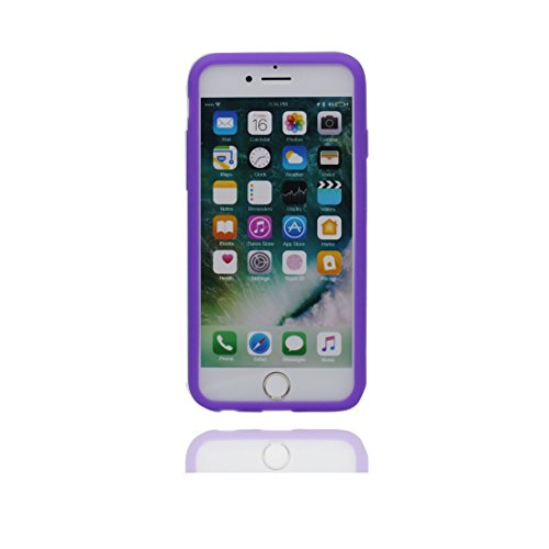 """Étui Apple iPhone 7 Plus (5,5 """"), [Flexible, TPU] coque arrière avec peu de diamants Antipoussière, gratter, choc pour iPhone 7 Plus (5.5 """") Housse, iPhone 7 Plus case, rouge pourpre"""