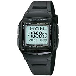 Data bank Multi-lingual 30-page Alarms, snooze Calender Casio DB-36-1AV Watch