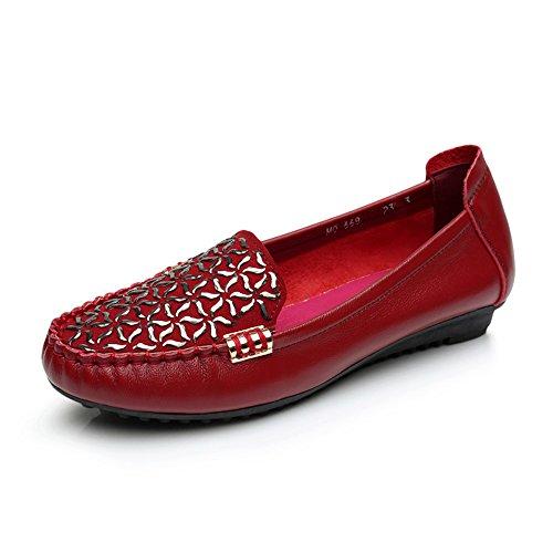 Les Chaussures De Femmes,Chaussures Souples,Télévision Avec Sa Mère Chaussures Chaussures red