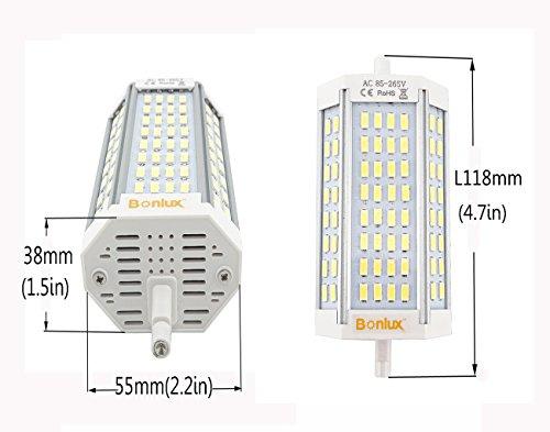 Bonlux led 30w dimmerabile r7s lineare del tubo 118mm for R7s led dimmerabile