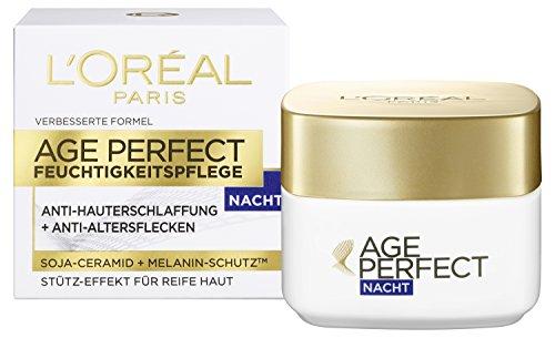 L'Oreal Paris Age Perfect Gesichtspflege, mit Soja-Ceramid für die Nacht, mildert Altersflecken und strafft die Haut, 50 ml -
