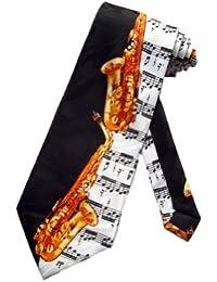 cravate saxophone Steven Harris - Noir - cravate pour homme taille unique