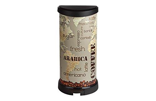 CURVER 213366 Cubo de Basura con Pedal 40L, Iml Coffee, 27.8x32.9x67.7 cm
