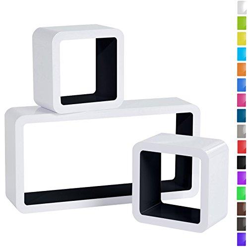 preisvergleich woltu rg9229sz wandregal cube regal 3er set willbilliger. Black Bedroom Furniture Sets. Home Design Ideas