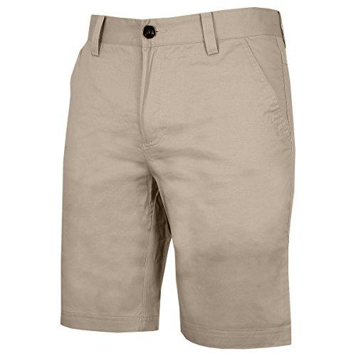 Calvin Klein Golf Mens weicher Baumwolle Chino-Shorts - Khaki - 34