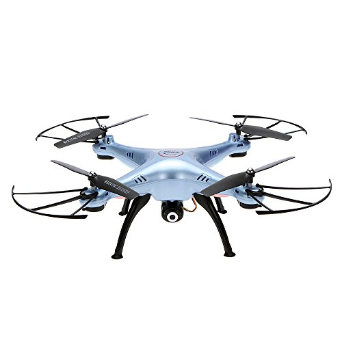 Syma Drone Wifi FPV Live Übertragung 0,3 MP HD Kamera RC Quadrocopter mit 360D Flips Eversion Headless-Modus Hover Funktion ... (x5hw blau)
