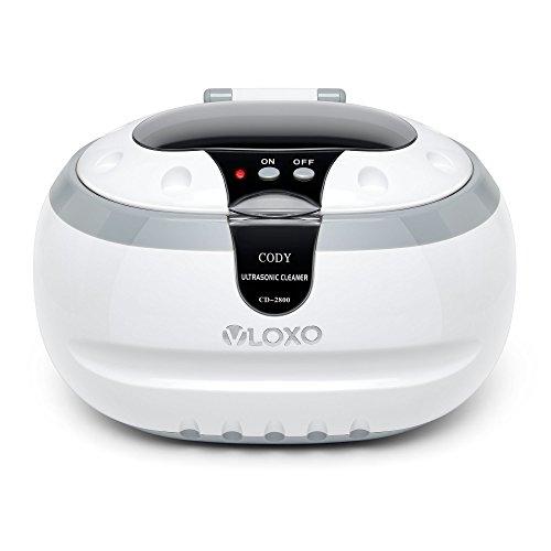 Pulitore ad Ultrasuoni VLOXO 600ml 42 KHz Display Digitale per er Pulire Gioelli Orologi Occhiali Dentiere Sigaretta ecc con Pulizia plastica cesto Porta Orologi