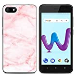 Coque Wiko Sunny 3 Silicone, Sunny 3 Etui Souple TPU, Anfire Pochette Etui Ultra Mince Cover Gel Doux Soft Case Bumper Antichoc Coque de Protection pour Wiko Sunny 3 - Marbre Rose