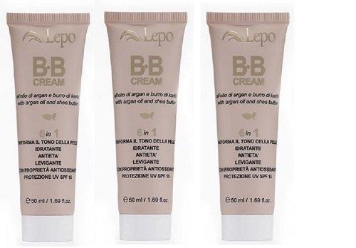 lepo-bb-cream-medio-scuro-3-confezioni-da-50ml-n2-idratante-protegge-contro-gli-uv-e-uniforma-il-col