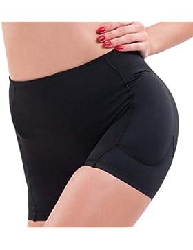 Jolie Mujer Ropa Interior Sexy Butt Lifter Calzoncillos Acolchados Mejora De La Cadera Paquete de 2,Black,XL