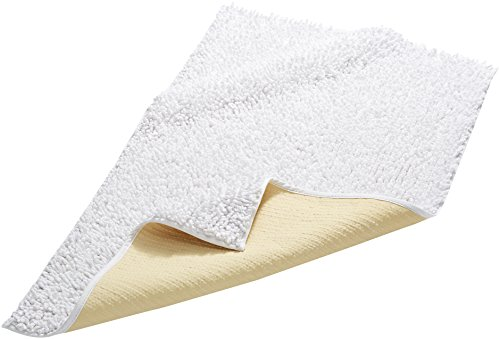Pinzon - Alfombrilla de baño (algodón, rizo grueso, 53 x 86 cm), color blanco