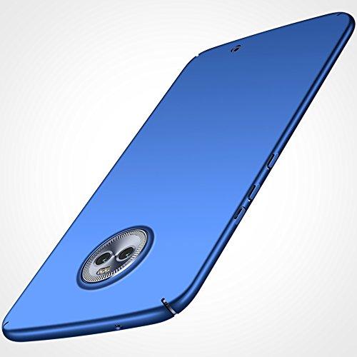anccer Cover Moto X4 [Serie Colorato] di Gomma Rigida Protezione da Cadute e Urti Moto X4 (Azzurro Liscio)