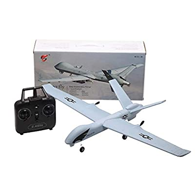 feiledi Trade 2.4GHz 4 Channel Remote Control Airplane, EPP Drone, Built in Axis Gyro System Super Easy to Fly RTF, USB Charging, Compatible with C17 Light Strap