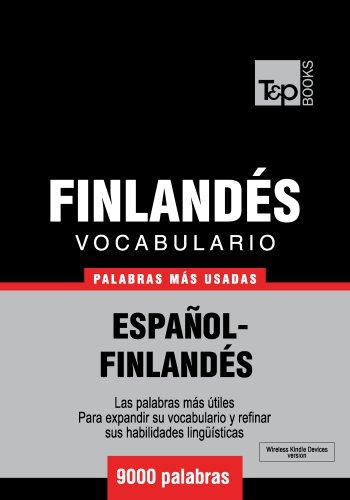 Vocabulario español-finlandés - 9000 palabras más usadas por Andrey Taranov