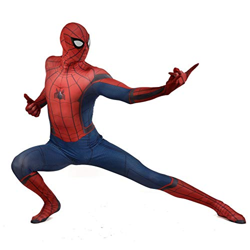 omecoming Kostüm Cosplay Kostümball Superheld Spiderman Strumpfhosen Halloween Kind Verkleidung Klassisches Spiderman-Kostüm,Adult-S ()