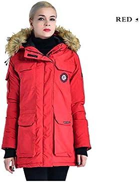 Women's Parka Coat Abbigliamento Collezione Inverno Donna Calda Giacche Pelliccia con cappuccio Spessore Windbreak...