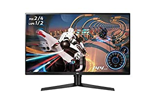 "LG 32GK850F UltraGear Monitor Gaming 32"" Quad HD VA HDR 400, 2560 x 1440, Radeon FreeSync 2 144 Hz, 2x HDMI, 1x Display Port, 3x USB 3.0, Uscita Audio, Multitasking, Stand Pivot (B0798QPYMF) 