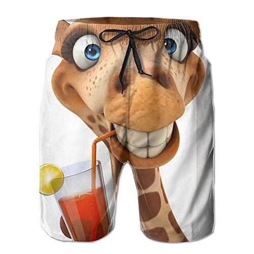 LarissaHi Hey ich Schon Wieder! Nette und lustige Giraffen-Mann-Wassersport-Strand-Hosen-Tasche M