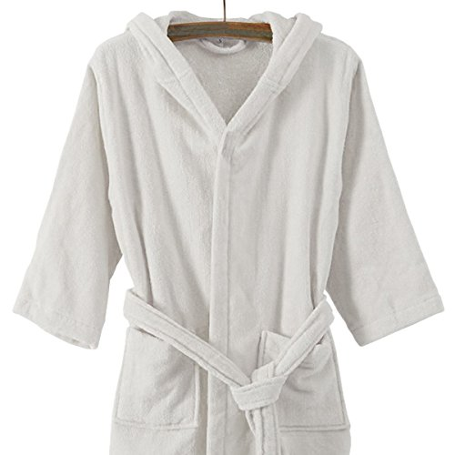 Kids Unisex Boys & Girls Hooded Towelling Bathrobe Extra Absorbent 100% Egyptian Cotton