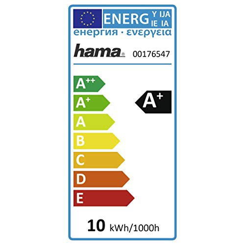 Hama E27 Wi-Fi LED-Lampe, 10 Watt, ohne Hub, dimmbar, steuerbar via Alexa/Google Home/App/IFTTT, 2,4GHz, RGB Farbwechsel, 2700K, warmweiß, WLAN Lampe, Echo Dot/Echo Spot/Echo Plus/Echo Show kompatibel