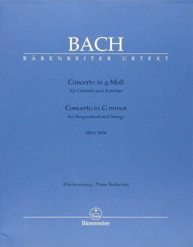 Concerto Piano No7 BWV 1058 sol Mineur - Pianos (2) par Bach Js