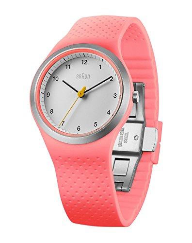 Braun Reloj analógico para Mujer de Cuarzo con Correa en Silicona BN0111WHPKL