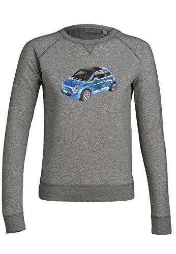 ul16 Sweat pour femmes Trips Fiat 500 in Blue Mid Heather Grey
