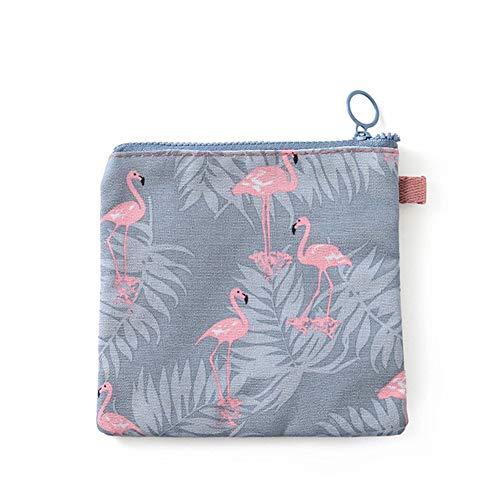 BOENTA Lunchtasche Multifunktions Kleine Brieftasche Flamingo Tragbare Mode Damenbinde Baumwolltasche Koreanische Version Von Reißverschluss Reise Aufbewahrungstasche Bird -