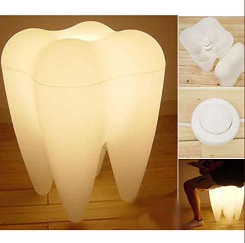 Weiß Zahn Milch Shaped Dekorative Nachtlicht,Weiß Zahnform Warme Lichter Kunststoff Dekorative Licht für Wohnzimmer Schlafzimmer Haus Lesezimmer Arbeitszimmer Gallerie Haus Galleria Form