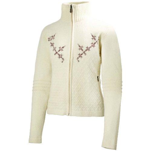 Helly Hansen Damen Jacke EMBLA Ski Knit Sweat Shirt gebrochenes weiß