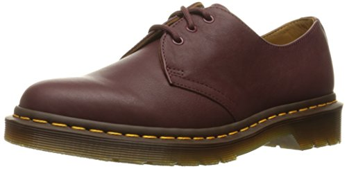 Dr.Martens Womens 1461 3 Eyelet Virginia Red Leather Shoes 38 EU (Dr. Eyelet Martens 3)