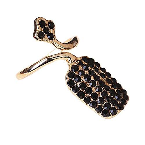 Nail Art élégant Ongle Anneau Protection Nail ringent style, Golden Black