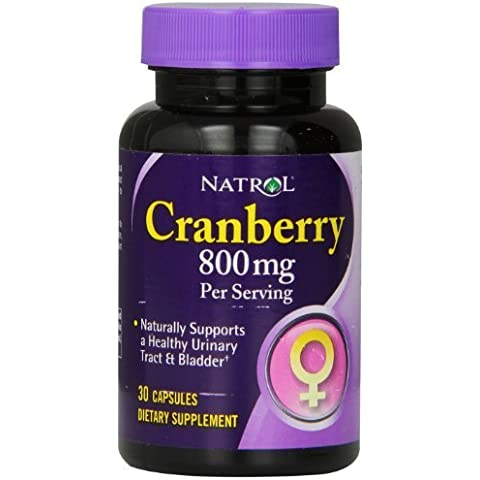 Natrol Cranberry 800 mg Capsules, 30-Count by Natrol, Inc.