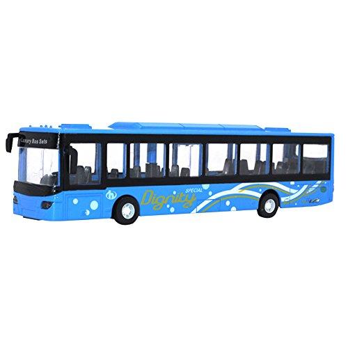 MAJGLGE Bus Modèle en Alliage de métal ingénierie Pull Back Vehicle Mini Car Enfants Jouets Cadeau - Bleu