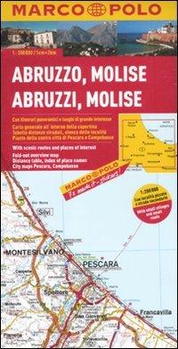 Abruzzo, Molise 1:200.000. Ediz. multilingue (Carte stradali Marco Polo) por aa.vv.