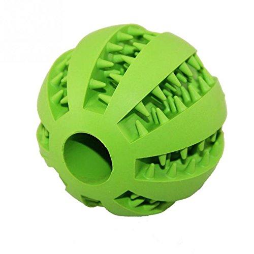 Haustier-Hundespiel-Ball, Stillshine - Natur-Gummi ungiftiger Biss-beständiger Spielzeug-Ball für Haustier-Hunde Welpen-Nahrungsmittel-Festlichkeit Zufuhr Zahn Reinigungs-Ball, Hundehaustier Zahn Reinigungs Ball Haustier Übungs Spiel (Schaf Grüne Kostüm)