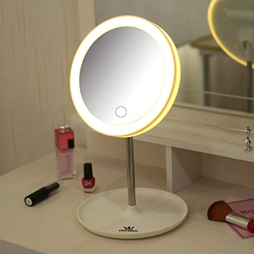 TOPWAY Espejo de viaje LED portátil Espejo de maquillaje LED portátil con luz