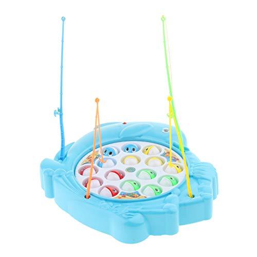 Elektrisches Angelspiel Fisch Angeln Spielzeug Kinderspielzeug für Jungen und Mädchen, inkl. 15pcs Fische & 4pcs Angelruten - Delphin