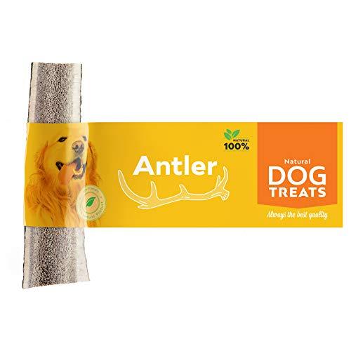 80 Medium Natural (Geweih Kausnack für Hunde 100% Natürlich Hirschgeweih Kauspielzeug Kauknochen Hundeknochen, Größe Medium)