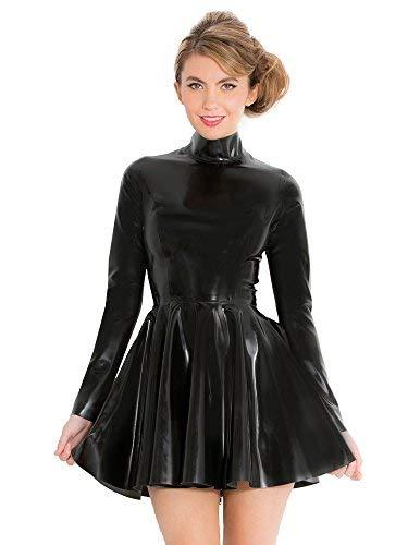 Honour Fantastisches Skaterkleid mit hohem Kragen - XL