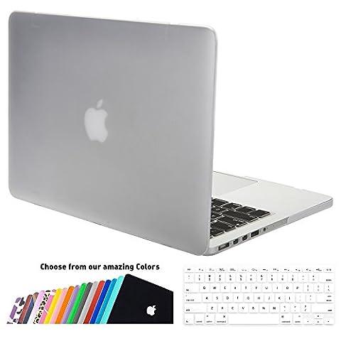 MacBook Pro 13 Retina Hülle Case,iNeseon Ultra Slim Plastik Hartschale Tasche Cover Shell, US Transparent und EU Transparent Tastatur Abdeckung Schutzhülle für Apple MacBook Pro 13.3 Zoll mit Retina Display Modell:A1502 und A1425 (Transparent)