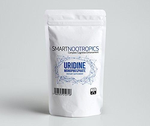Uridinmonophosphat Pulver | Verbessert Gedächtnis, Stimmung und Konzentration | Smart Nootropics - Verpackt in Großbritannien in ISO-lizenzierten Betrieben - 100 % Geld-zurück-Garantie (50g)