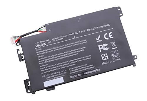 vhbw Li-Polymer Akku 3000mAh (7.6V) für Notebook Laptop Toshiba Satellite Click W35-A3300, W35Dt wie P000577240, PA5156U-1BRS.