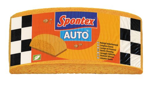 Spontex Autoschwamm, 1er Pack - Zum Waschen & Polieren,  sanft zum Lack