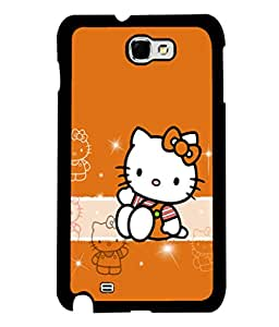 printtech Kitty Cute Back Case Cover for Samsung Galaxy Note 2::Samsung Galaxy Note 2 N7100