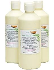 1 bouteille Doux Moringa Lotion Corporelle, Naturel, Sain & Fait main, Approximativement 500gr
