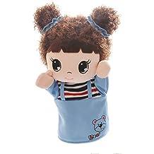 Animales de dibujos animados y figuras Marionetas de mano Marionetas de peluche (Niña dulce Azul 25x11cm)
