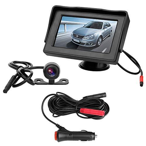 CHANGHUA Caméra de Recul sans Fil - Caméra de Voiture Numérique avec Bonne Vision Nocturne, Caméra Etanche IP68 avec 4.3'' LCD...