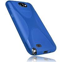 mumbi X-TPU Silikon Schutzhülle für Samsung Galaxy Note 2 transparent blau