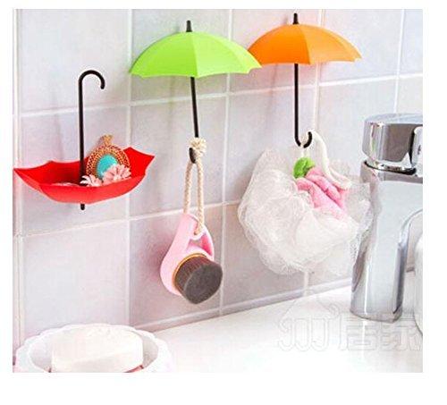 Arpoador 3 pcs Creative Parapluie Support Mural pour clés Crochet Mural Cintre Organiseur